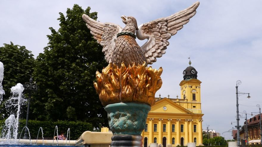 Символ города Дебрецен птица Феникс
