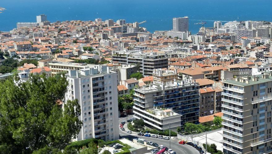Панорама города Марсель Франция