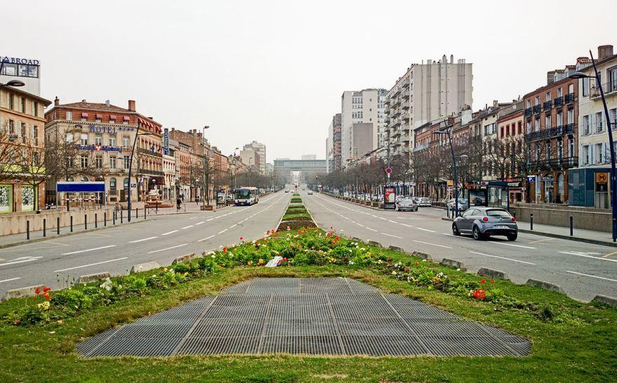 Улица город Тулуза