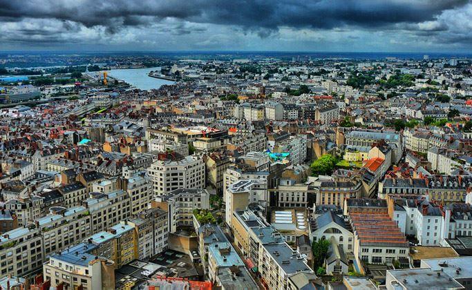 Смотреть красивое фото город Нант