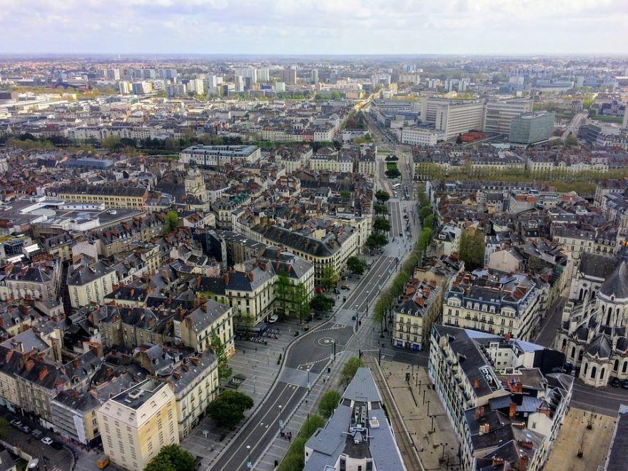 Панорама город Нант