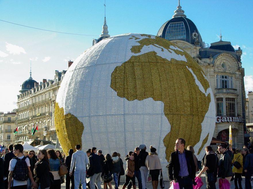Глобус город Монпелье