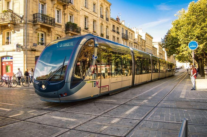 Улица города Бордо Франция