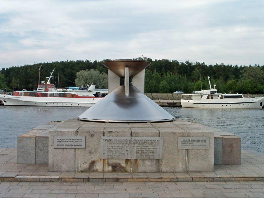 Чаша олимпийского огня город Таллин