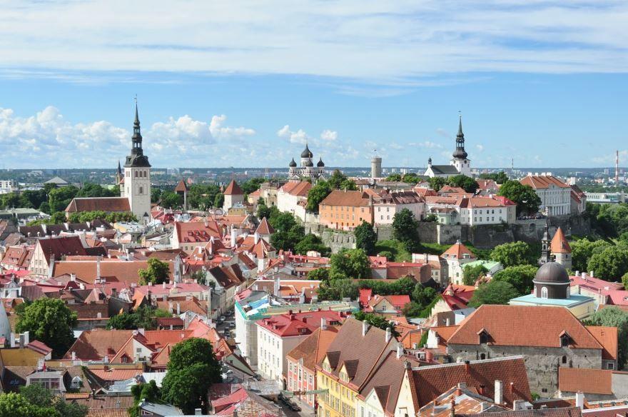 Панорама города Таллин 2019