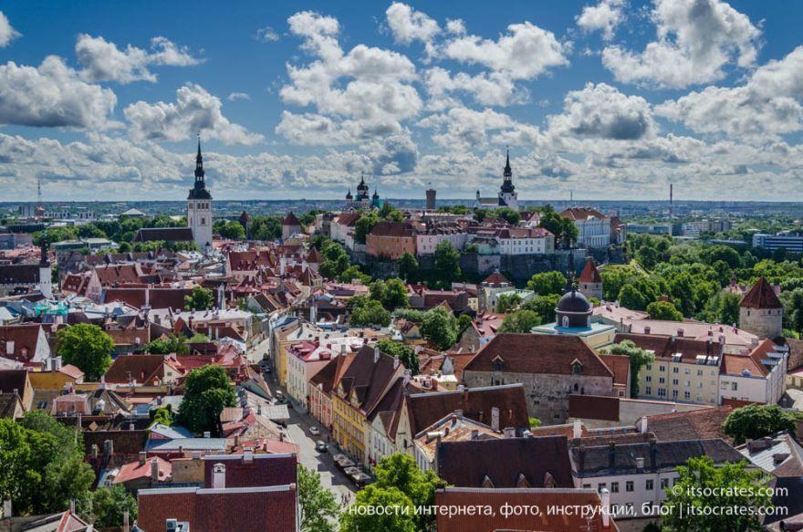 Вид на город Таллин Эстония