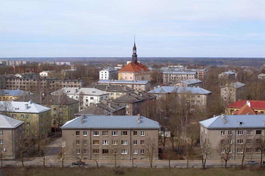 Панорама город Нарва
