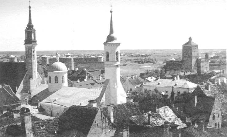 Старинное фото город Нарва