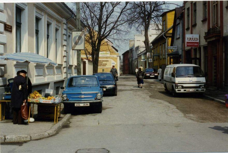 Фото улица города Пярну Эстония