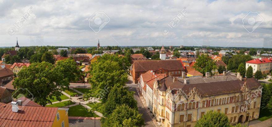 Фото вид на город Вильянди Эстония