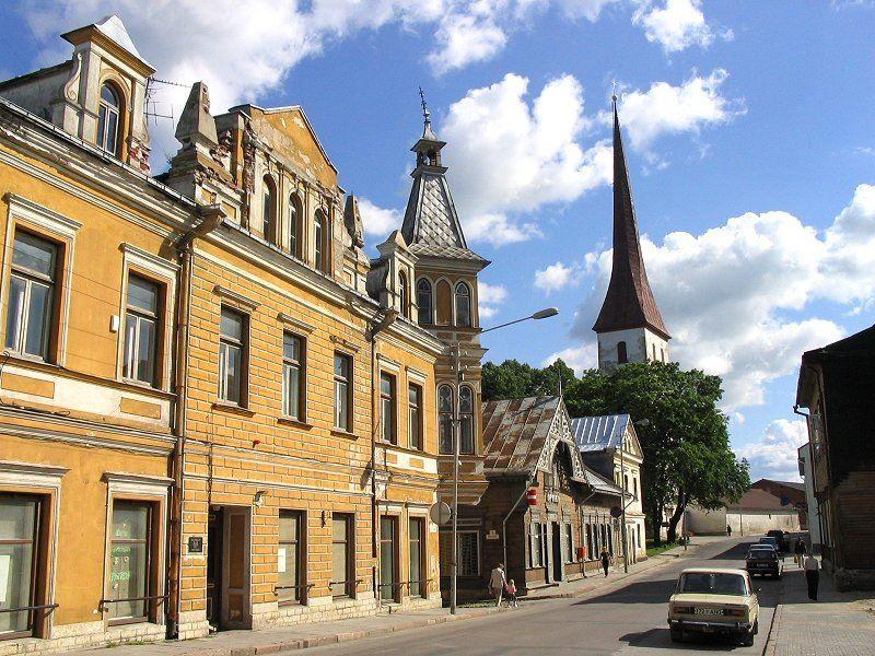 Улица город Раквере