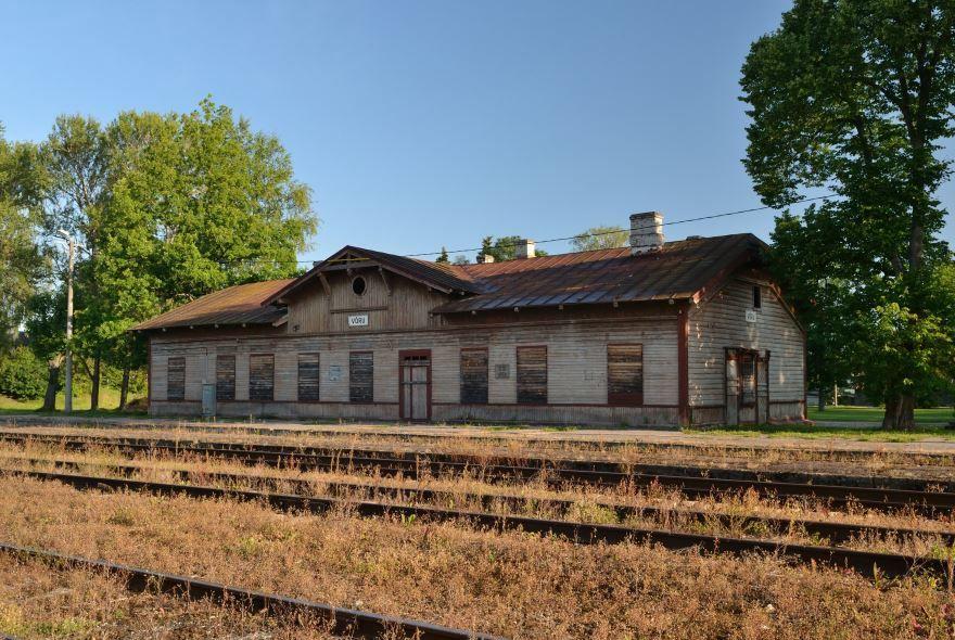 Железнодорожный вокзал город Выру 2019
