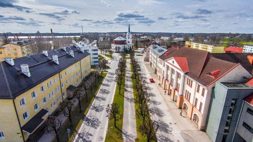 Улица город Валга