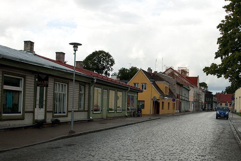 Улица город Хаапсалу