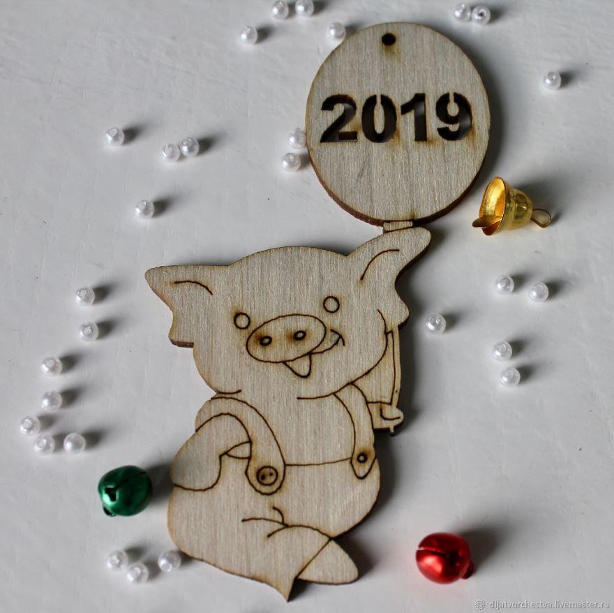 Картинка поросенка на Новый год