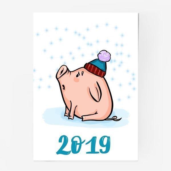 Новогодний поросенок 2019