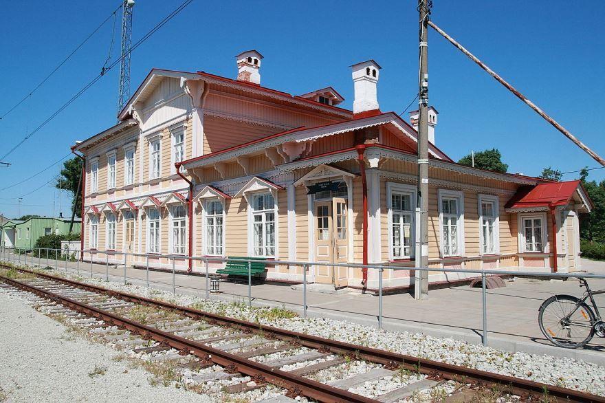 Железнодорожный вокзал город Палдиски 2019