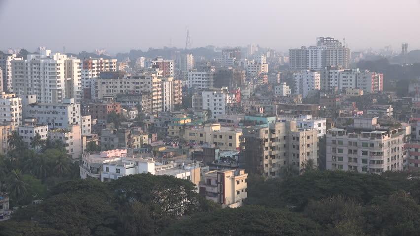 Вид на город Читтагонг Бангладеш