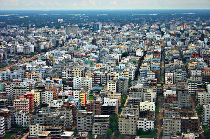 Панорама город Дакка 2019