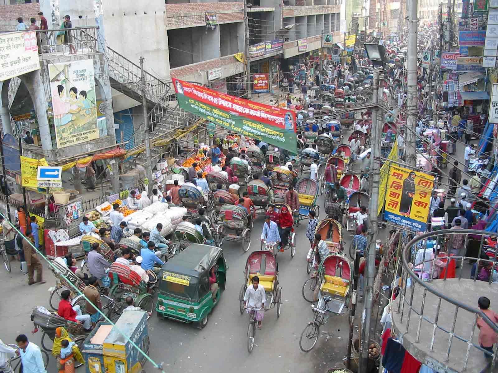 Улица город Дакка
