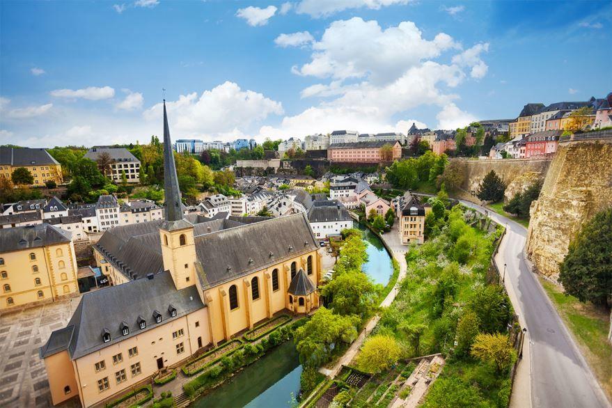 Вид на город Люксембург