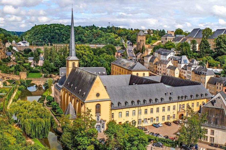 Панорама город Люксембург 2019