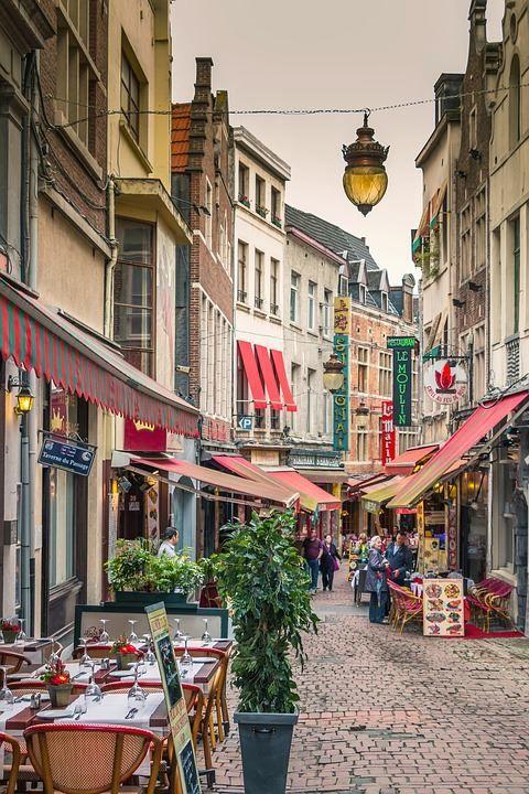 Улица город Брюссель