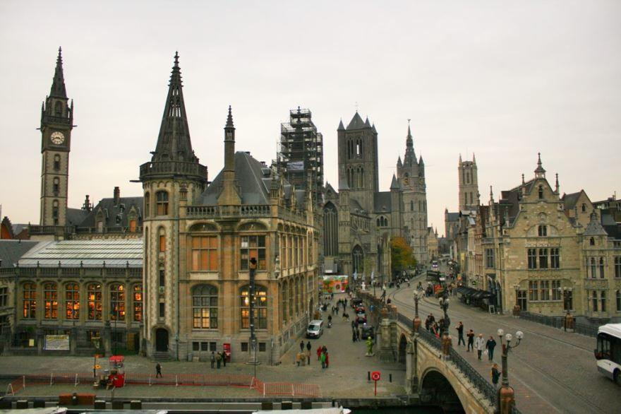 Смотреть красивое фото город Гент