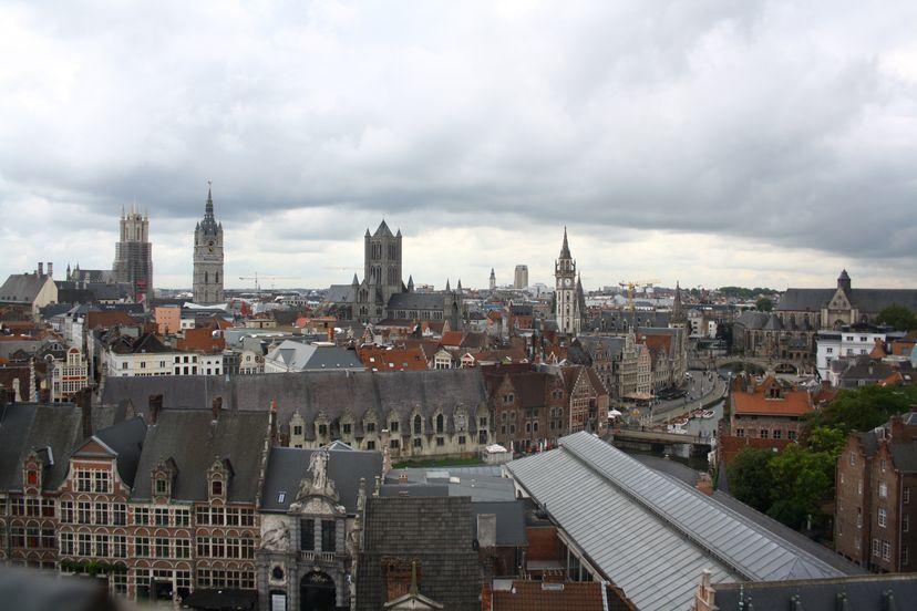 Панорама город Гент