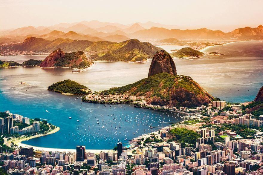 Панорама город Рио-де-Жанейро