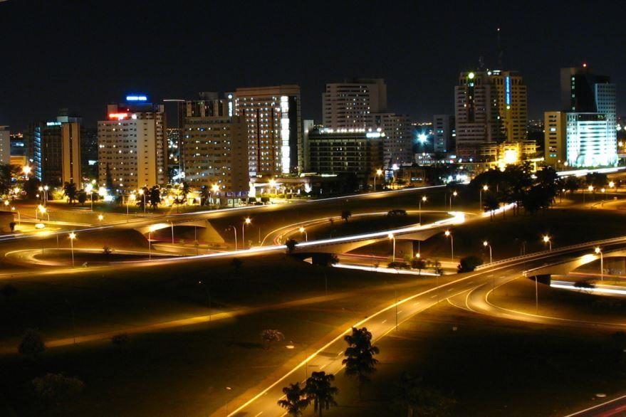 Ночное фото город Бразилиа