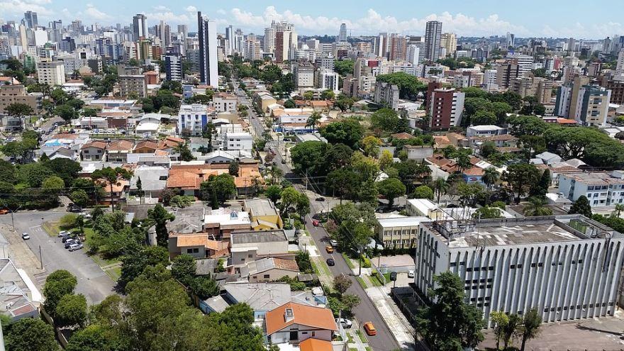 Вид на город Куритиба