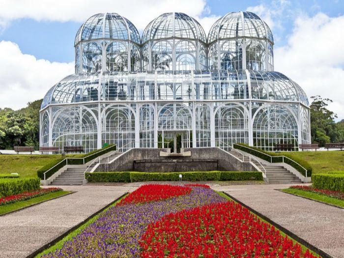 Ботанический сад города Куритиба Бразилия