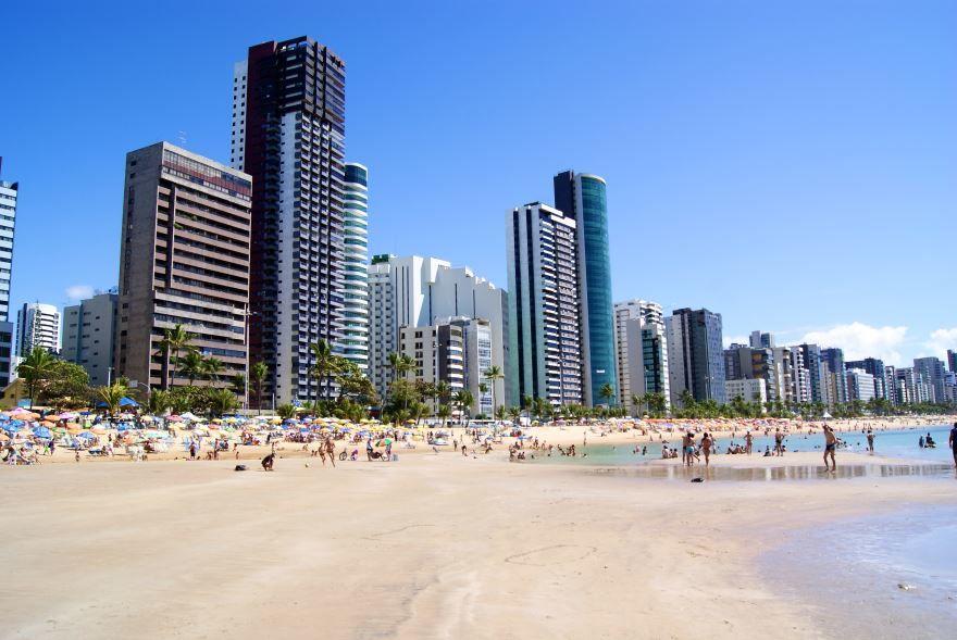 Пляж города Ресифи Бразилия