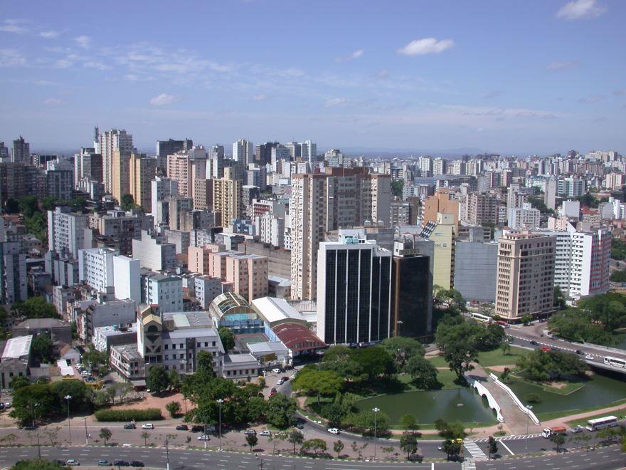 Вид на город Порту-Алегри