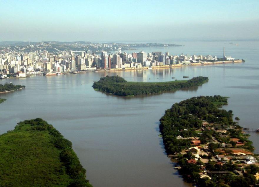 Панорама город Порту-Алегри