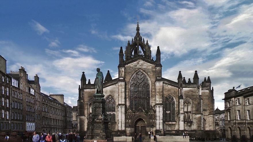 Собор Святого Джайлса город Эдинбург