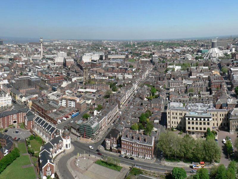 Фото города Ливерпуль Великобритания