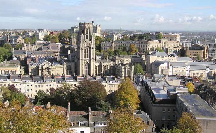 Панорама города Бристоль Великобритания