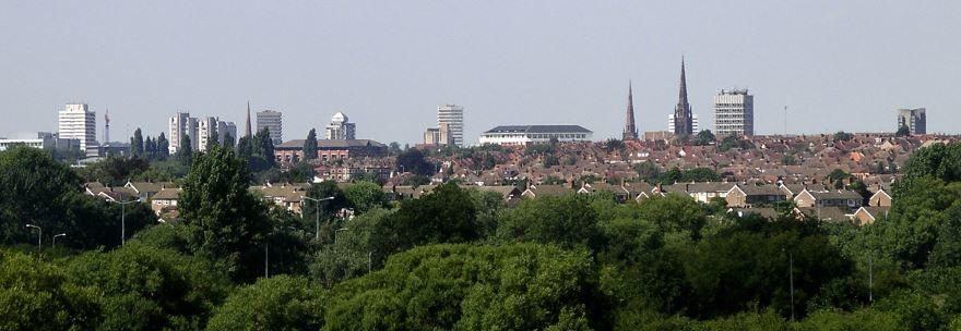 Вид на город Ковентри