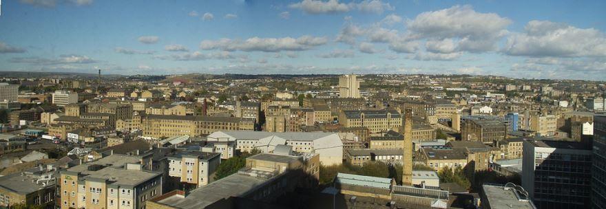 Панорама города Брэдфорд Великобритания