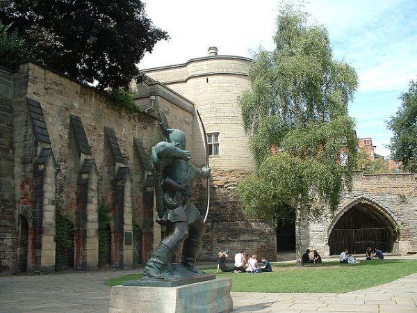 Фото замка Ноттингем Великобритания