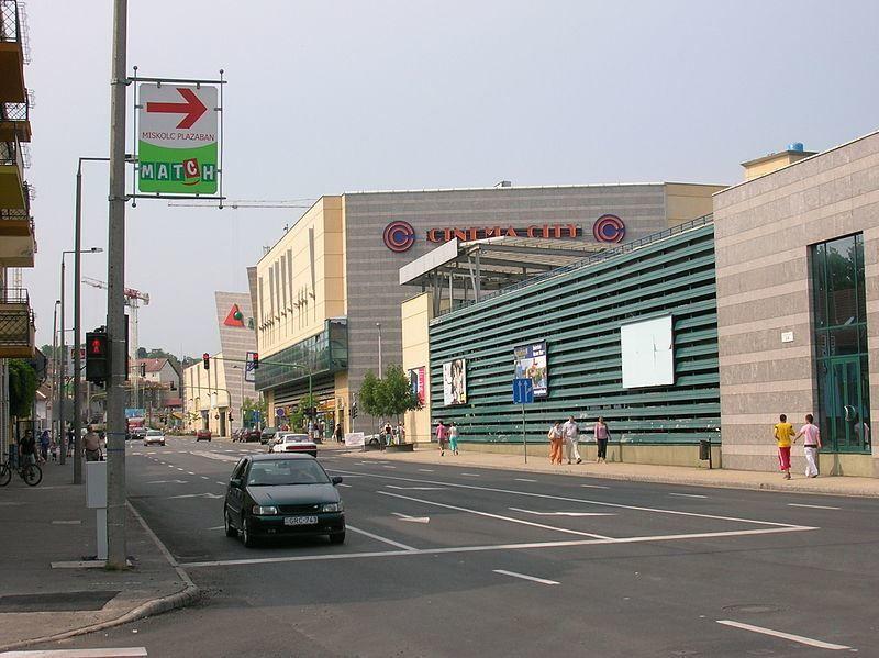 Улица город Мишкольц