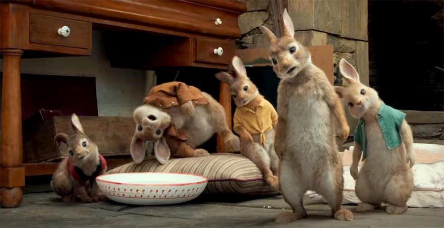 Бесплатные кадры к фильму Кролик Питер в качестве 1080 hd