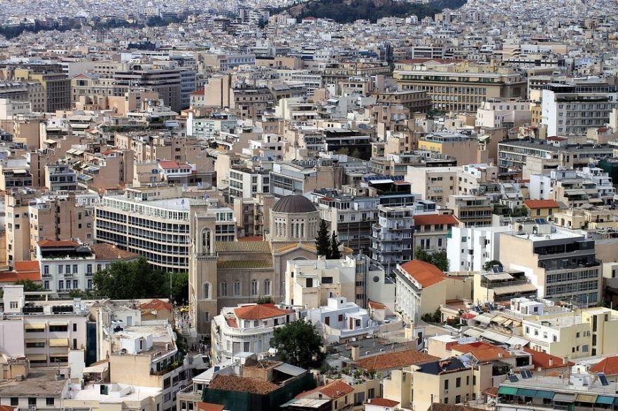 Панорама город Афины 2019
