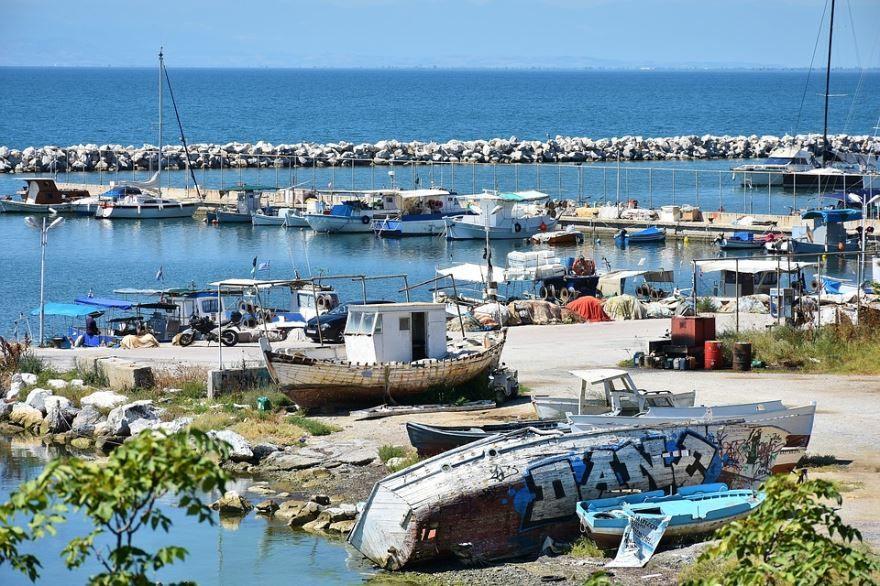Порт город Салоники