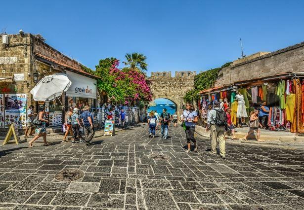Рынок город Родос Греция
