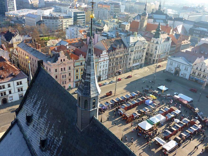 Вид на город Пльзень