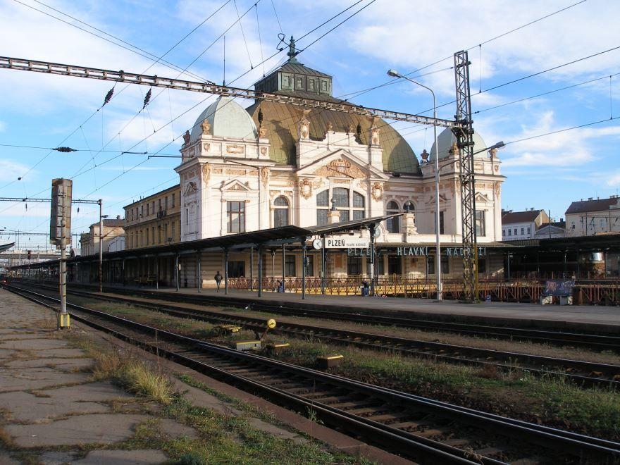 Железнодорожный вокзал города Пльзень Чехия