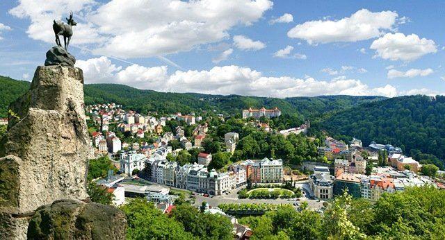 Панорама город Карловы Вары